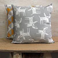 Povlak na polštářek Los šedý 40x40 cm bavlna