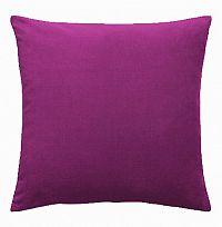 Povlak na polštářek Uni fialový 40x40 cm Bavlněný satén