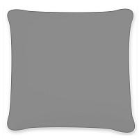 Povlak na polštářek Uni tmavě šedý 40x40 40x40 cm Bavlněný satén
