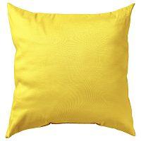 Povlak na polštářek Uni žlutý 40x40 cm Bavlněný satén