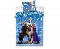 Povlečení Ledové království Snow Queen 140x200 jednolůžko - standard bavlna