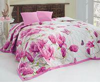 Přehoz Alize lila přehoz: 220x240 cm, 2x polštářek 40x40 cm bavlna