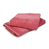 Ručník Karo růžový 50x90 cm, 500 g/m2 Ručník