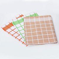 Set kostkovaných kuchyňských utěrek 3 ks: 50x70 cm, 240g/m2 Barevná