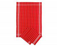 Set kuchyňkých utěrek červený 50x70 cm bavlna