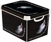 BOX s víkem plastový - L - ANGEL CURVER