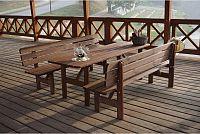 Dřevěná lavice MIRIAM - 180CM