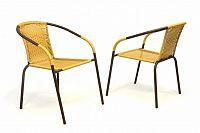 Garthen 35122 Sada 2 ks zahradní bistro židle - stohovatelná, béžová