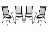 Garthen 36159 Sada 4 kusů hliníková skládací židle Garth - černá