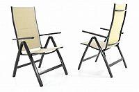 Garthen 40798 Sada dvou zahradních skládacích židlí DELUXE - krémová