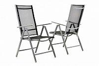 Garthen 6143 Zahradní sada 2 skládací židle - černá