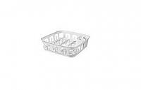 Odkapávač nádobí ESSENTIALS čtverec - bílý CURVER