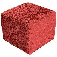 GA.I.CO decoDoma napínací potah bielastický BUKLÉ korálová na taburet 40 x 40 x 40 cm