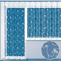 Hotová žakárová záclona AMANDA - balkonový komplet
