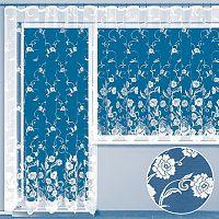 Hotová žakárová záclona DERBORA - balkonový komplet