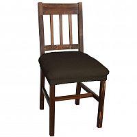 Nueva Textura decoDoma napínací potah multielastický CARLA hnědé židle 2 ks 40 x 40 cm