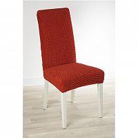 Nueva Textura decoDoma napínací potah strečový GLAMOUR cihlové židle s opěradlem 2 ks 40 x 40 x 60 cm