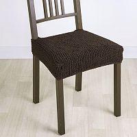 Nueva Textura decoDoma napínací potah strečový GLAMOUR hnědé židle 2 ks 40 x 40 cm