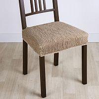 Nueva Textura decoDoma napínací potah strečový GLAMOUR oříškové židle 2 ks 40 x 40 cm
