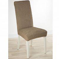 Nueva Textura decoDoma napínací potah strečový GLAMOUR oříškové židle s opěradlem 2 ks 40 x 40 x 60 cm