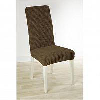 Nueva Textura decoDoma napínací potah strečový GLAMOUR tabákové židle s opěradlem 2 ks 40 x 40 x 60 cm