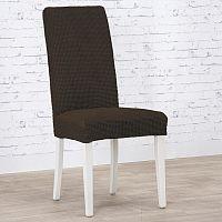 Nueva Textura decoDoma napínací potah strečový NIAGARA čokoládová židle s opěradlem 2 ks 40 x 40 x 55 cm
