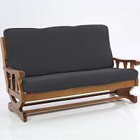 Nueva Textura decoDoma napínací potahy na sedací soupravu multielastický CARLA šedé na sedačku - trojkřeslo s dřevěnými rukojeťmi 170 - 200 cm