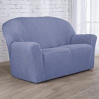 Nueva Textura decoDoma napínací potahy na sedací soupravu strečový NIAGARA modrá na sedačku - dvojkřeslo 140 -180 cm