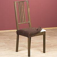 Nueva Textura Luxusní decoDoma napínací potah multielastický ZAFIRO čokoládové židle 2 ks 40 x 40 cm
