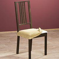 Nueva Textura Luxusní decoDoma napínací potah multielastický ZAFIRO gold židle 2 ks 40 x 40 cm