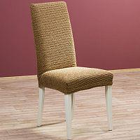 Nueva Textura Luxusní decoDoma napínací potah multielastický ZAFIRO tabákově hnědé židle s opěradlem 2 ks 40 x 40 x 60 cm