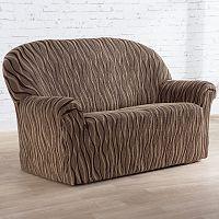 Nueva Textura Monoelastické potahy na sedací soupravuy CASIOPEA hnědé na sedačku - dvojkřeslo 140 - 180 cm