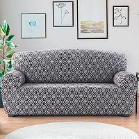 Nueva Textura Monoelastické potahy na sedací soupravuy ZUMA černobílé na sedačku - dvojkřeslo 140 - 180 cm