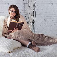 Pletená deka Tahara šedohnědá
