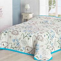 Přehoz na postel Valerie, modrý 160 x 220 cm