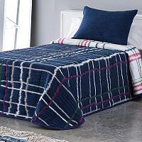 Přehoz přes postel MARA modrý jednolůžko