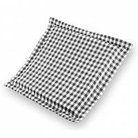 Škodák Sedák Indie s lemem černobílý s kostičkami 38 x 38 x 3 cm