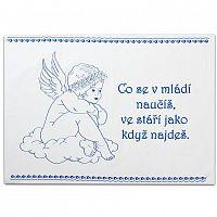 Svitap Staročeská utěrka 100% bavlna Vařenka > varianta Anděl - modrá
