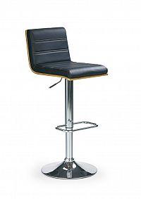 Barová židle H-31 Ořech + Černá