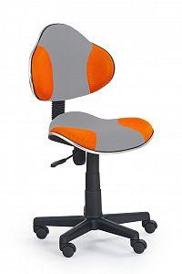 Dětská židle FLASH 2 šedá + pomerančová