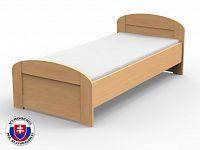 Jednolůžková postel 210x120 cm Petra oblé čelo u nohou (masiv)