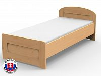 Jednolůžková postel 210x120 cm Petra rovné čelo u nohou (masiv)