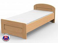 Jednolůžková postel 220x120 cm Petra rovné čelo u nohou (masiv)