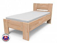 Jednolůžková postel 220x90 cm Nikoleta plné čelo (masiv)