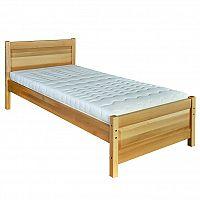 Jednolůžková postel 80 cm LK 120 (buk) (masiv)