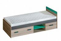 Jednolůžková postel 80 cm U7 (s roštem a úl. prostorem)