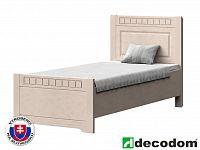 Jednolůžková postel 90 cm Decodom Lirot Typ P-90 (vanilka patina)