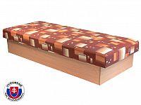 Jednolůžková postel (válenda) 80 cm Edo 12 (s pružinovou matrací)