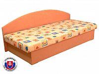 Jednolůžková postel (válenda) 80 cm Edo 3 (s pružinovou matrací)