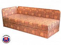 Jednolůžková postel (válenda) 80 cm Edo 4/1 (s pružinovou matrací) (L)